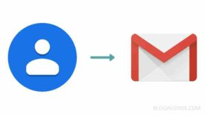 transfer whatsapp TV contacts to gmail