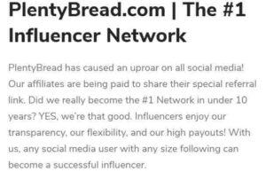 plentybread influencer network